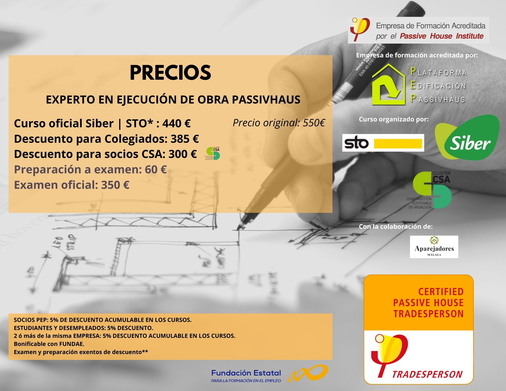 Curso Passivhaus Tradesperson C&A Precios