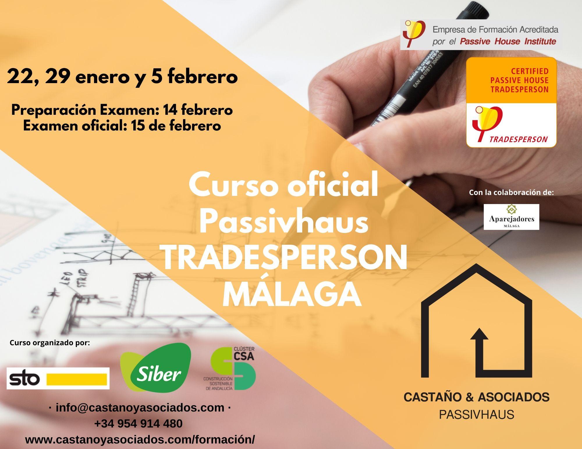 Curso Passivhaus Tradesperson C&A Fechas