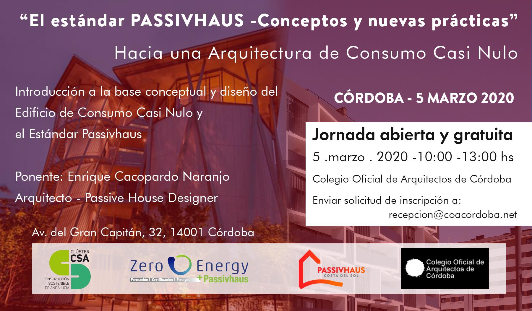 Jornada Passivhaus colegio arquitectos cordoba